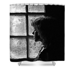 The Web Of Past Love 1980 Shower Curtain by Ed Weidman