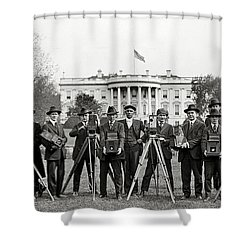 The White House Photographers Shower Curtain by Jon Neidert