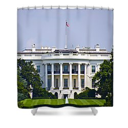 The Whitehouse - Washington Dc Shower Curtain by Bill Cannon