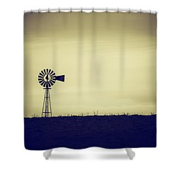 The Windmill Shower Curtain by Karol Livote