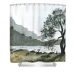 The Wishing Tree Shower Curtain by Janice Sobien