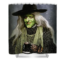 The Witch Of Endor As A Cavalier Shower Curtain by RC deWinter