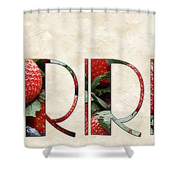 The Word Is Berries  Shower Curtain by Andee Design