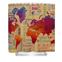 The World Shower Curtain by Bedros Awak