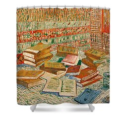 The Yellow Books Shower Curtain by Vincent Van Gogh