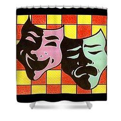Theatre Masks Shower Curtain by Jim Harris