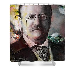 Theodore Roosevelt Shower Curtain by Corporate Art Task Force