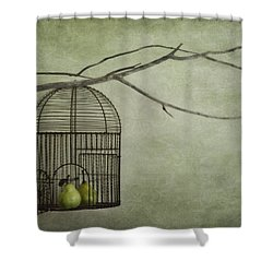 There Is A World Outside Shower Curtain by Priska Wettstein