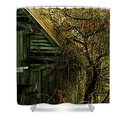 There Will Come Soft Rains Shower Curtain by Rebecca Sherman