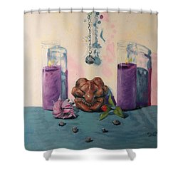 They Are Gone We Are Here Shower Curtain by Shelley Irish