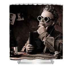 Things To Consider - Steampunk - World Domination Shower Curtain by Gary Heller