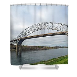 This Way To The Cape Shower Curtain by Barbara McDevitt