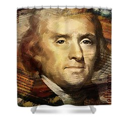 Thomas Jefferson Shower Curtain by Corporate Art Task Force