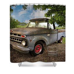 Those Were The Days Shower Curtain by Debra and Dave Vanderlaan