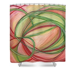 Thoughts Create Shower Curtain by Kelly K H B