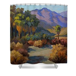 Thousand Palms Shower Curtain by Diane McClary