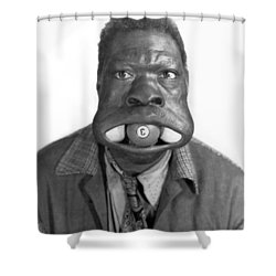 Three Ball Charlie Shower Curtain by Underwood Archives