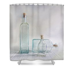 Three Bottles Shower Curtain by Veikko Suikkanen