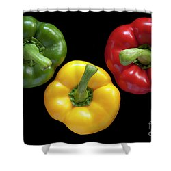 Three Colors Shower Curtain by Heiko Koehrer-Wagner