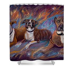 If Dogs Go To Heaven Shower Curtain by Sherry Strong