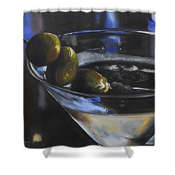 Three Olive Martini Shower Curtain by Donna Tuten