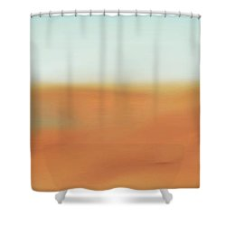 Through The Desert Shower Curtain by Hannes Cmarits