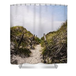 Through The Dunes Shower Curtain by Hannes Cmarits