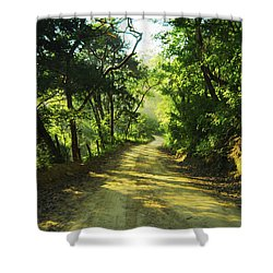 Through The Jungle Shower Curtain by Aged Pixel