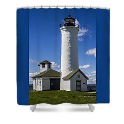 Tibbetts Point Lighthouse Shower Curtain by Ben and Raisa Gertsberg