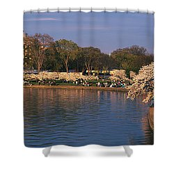 Tidal Basin Washington Dc Shower Curtain by Panoramic Images