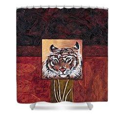 Tiger 2 Shower Curtain by Darice Machel McGuire