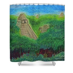 Tikal 2 By Jrr Shower Curtain by First Star Art