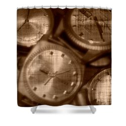 Time After Time Shower Curtain by Barbara S Nickerson