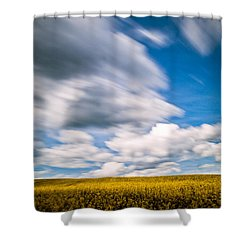 Time Goes By Shower Curtain by Davorin Mance