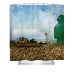 Time In A Bottle Shower Curtain by Terry Fleckney