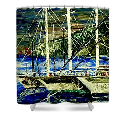 Time To Sail  Shower Curtain by Mark Moore