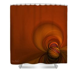 Time Warp Shower Curtain by Mary Machare