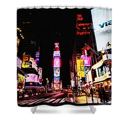 Times Square Shower Curtain by Andrew Paranavitana
