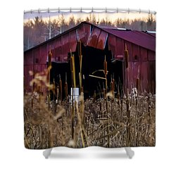 Tin Roof Rusted Shower Curtain by Bill Cannon