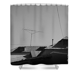 Tin Rooftops Chimayo New Mexico Shower Curtain by David Gordon