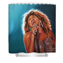 Tina Turner 3 Shower Curtain by Paul Meijering