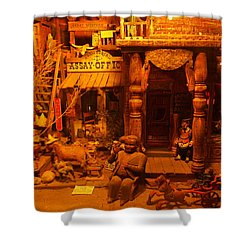 Tinkertown Shower Curtain by Jeff Swan