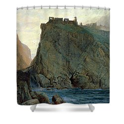 Tintagel On The Cornish Coast Shower Curtain by W T Richards