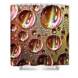 Tiny Water Beads And Spectrum Colors Shower Curtain by Heiko Koehrer-Wagner