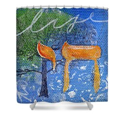 To Life Shower Curtain by Linda Woods