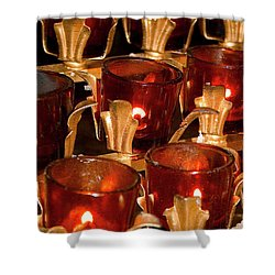 To Lite A Candle Shower Curtain by Karol Livote