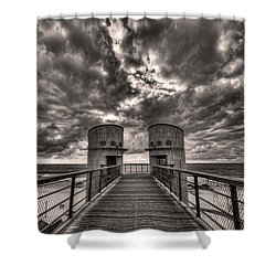 To The Bridge Shower Curtain by Ron Shoshani