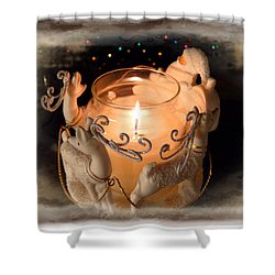 To The Top Of The Porch To The Top Of The Wall  Now Dash Away Dash Away Dash Away All Shower Curtain by Lucinda Walter