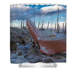 Toes In The Surf Shower Curtain by Scott Campbell