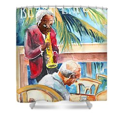 Together Old In Prague Shower Curtain by Miki De Goodaboom